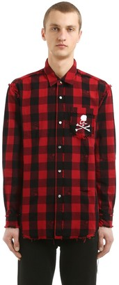 Mastermind World SKULL CHECKED COTTON FLANNEL SHIRT