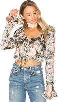 For Love & Lemons Luciana Ruffle Blouse