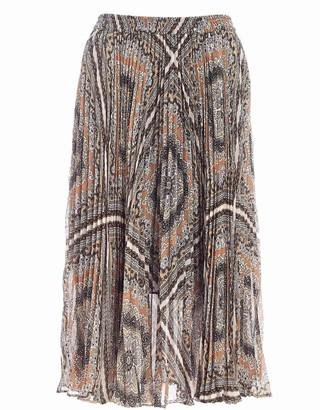 MICHAEL Michael Kors Bandana Print Pleated Skirt