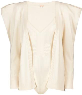 Johanna Ortiz Inca cotton cardigan and bodysuit set