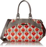 Petunia Pickle Bottom Wistful Weekender Diaper Bag in Brittany Blooms, Red/Orange by