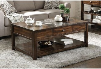 Darby Home Co Conerly Marble Inlay Lift Top Coffee Table