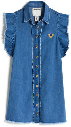 True Religion GIRLS DENIM SHIRT DRESS
