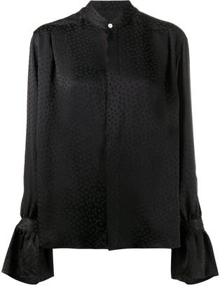 AMI Paris Dobby Weave Blouse