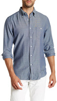 Gant R. Indigo Oxford Mini Stripe Long Sleeve Trim Fit Shirt