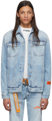 Heron Preston Blue Denim Vintage Jacket