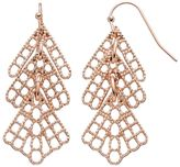 Lauren Conrad Textured Layered Drop Earrings