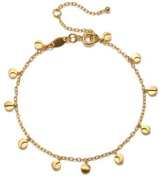 Satya Jewelry Gold Moon Phase Charm Bracelet