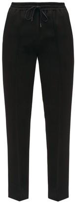 Joseph Dino Drawstring-waist Twill Straight-leg Trousers - Womens - Black