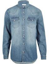 River Island Blue Casual Western Denim Shirt