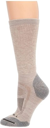 Merrell Zoned Crew Light Hiker 1-Pack (Oatmeal Heather) Women's Crew Cut Socks Shoes