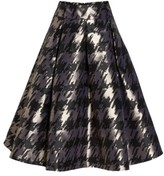 Eliza J Women's Metallic Jacquard Midi Skirt