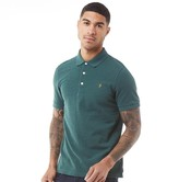 Farah Mens Blanes Short Sleeve Polo Bright Emerald Marl
