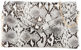 Urban Expressions Monique Snake Embossed Vegan Leather Crossbody Clutch