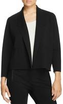 Eileen Fisher Notch Collar Wool Knit Jacket