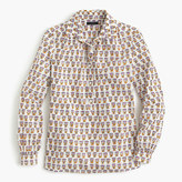 J.Crew Gathered popover shirt in Indian cotton