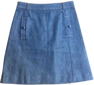 Vanessa Seward Blue Denim - Jeans Skirt for Women
