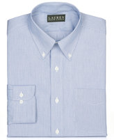 Lauren Ralph Lauren Non-Iron Blue Hairline Broadcloth Dress Shirt