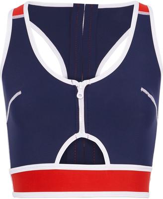 Duskii Kailua Cutout Two-tone Stretch-neoprene Bikini Top