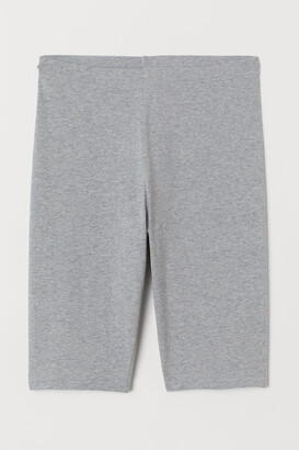 H&M Cotton Jersey Cycling Shorts - Gray