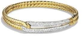 David Yurman Labyrinth Single Loop Bracelet with Diamonds and Gold