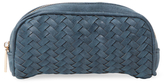 Deux Lux Rivington Woven Vegan Leather Cosmetic Case