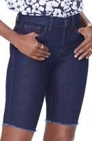 NYDJ Briella Fray Hem Denim Bermuda Shorts