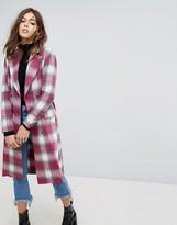PrettyLittleThing Longline Check Coat