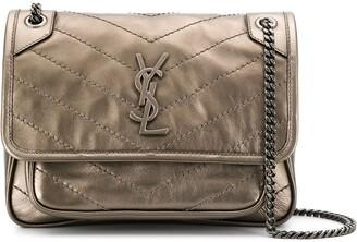 Saint Laurent Niki metallic shoulder bag