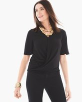 Chico's Surplice-Front Knit Top