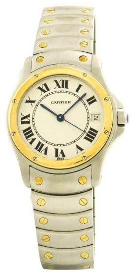 Cartier Ronde 1910 Stainless Steel & Yellow Gold Automatic 33mm Men's Watch
