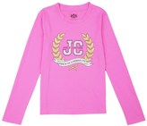 Juicy Couture Girls Logo Glam Laurels Long Sleeved Tee