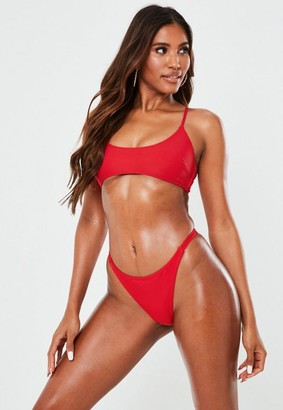 Missguided Mix And Match Scoop Neck Bikini Top