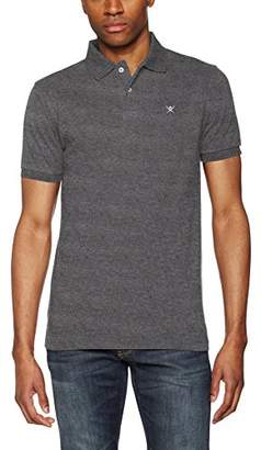 Hackett Clothing Men's Tailored Logo Polo Shirt, (Blue/Grey), Small (Size:S)