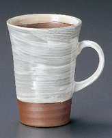 WHITE-BRUSH Tohki Japanese Pottery Set of 10 Beer Mugs