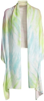 White + Warren Tie-Dyed Cashmere Mini Travel Wrap