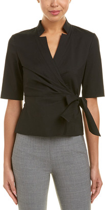 Lafayette 148 New York Today's Fix Wrap Blouse