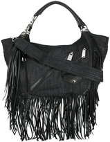 DSQUARED2 Babe Wire fringed hobo bag - women - Cotton/Calf Leather - One Size