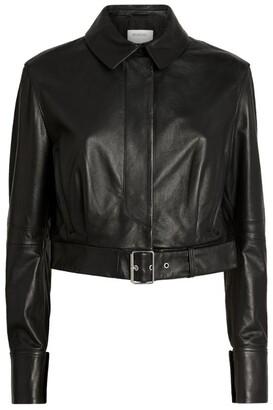 Sportmax Bari Cropped Leather Jacket