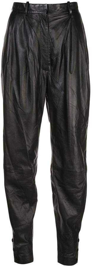 Altuzarra leather Atomica tapered trousers