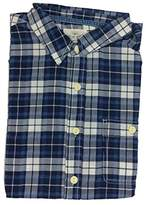 True Grit Men's Beach Checks Short Sleeve One Pocket Shirt