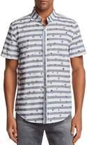 Sovereign Code Nintendo Stripe Short Sleeve Button-Down Shirt - 100% Exclusive