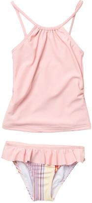 Roxy Kindness Tankini & Ruffled Bottoms Swimsuit Set