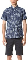 Gant Indigo Oxford Floral Short Sleeve Shirt