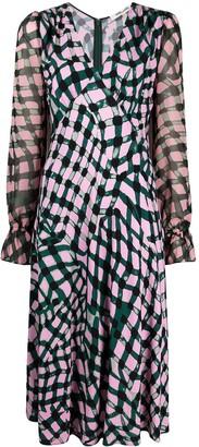 Diane von Furstenberg Geometric-Print Midi Dress