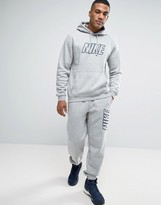 Nike Tracksuit Set With Large Logo In Grey 804306-063