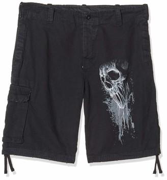 Spiral Direct Spiral Men - Bat Curse - Vintage Cargo Shorts Black XXL