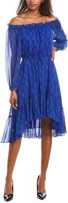 Diane von Furstenberg Camilla Silk A-Line Dress