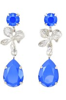 Rosaspina Firenze Orchid Earrings In Royal Blue