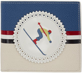 Thom Browne Blue and White Skier Bifold Wallet